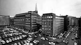 View of the Pressehaus in Hamburg, 1973