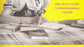 Poster advertising Bertelsmann's Feld editions, ca. 1940