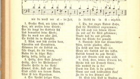 """Großer Gott wir loben Dich"" (Great God, we praise you)! From the 1869 songbook ""Geistliche liebliche Lieder"" (Lovely Spiritual Songs)"