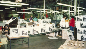 In 1981, Bertelsmann buys a stake in Offset Paperback Manufacturers in Dallas