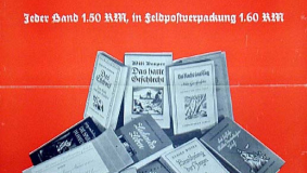 Poster advertising Bertelsmann's Feld editions