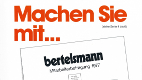 "The ""Bertelsmann report"" calls on the staff to participate in the first employee survey in 1977"