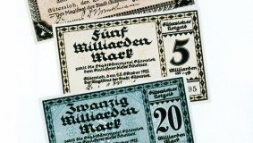Emergency currency in Gütersloh during the inflation year of 1923