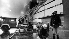 Major fire at Mohndruck, 1979