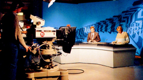 A look into the first RTL plus news studio in Luxembourg, 1984
