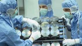 In 1985, the company enters into industrial production of Compact Discs