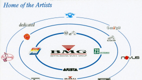 In 1990, all of Bertelsmann's music labels are integrated into BMG (Bertelsmann Music Group).