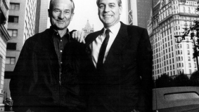 Reinhard Mohn and Mark Wössner in New York, 1987