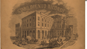Historical view of the Ricordi music company