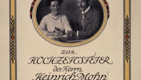 Wedding paper for Heinrich and Agnes Mohn, née Seippel, who got married in 1912