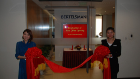 New rooms about to be inaugurated at the Bertelsmann China Corporate Center, October 2012